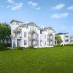 Planung der Sanierung von 12 Wohnunf in der Villa Möwe in Heiligendamm - Gartenansicht des Gebäudes